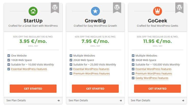 Migliore hosting per creare un sito web