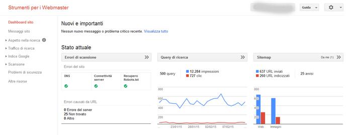 Strumenti per i Webmaster Google