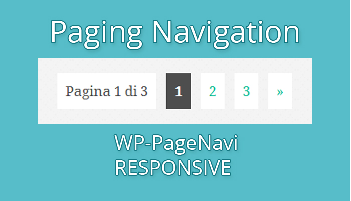 paging navigation wp-pagenavi responsive