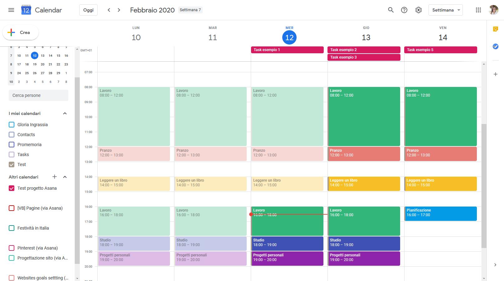 Sincronizzazione asana google calendar