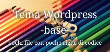 Creare un tema WordPress base